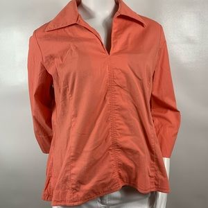 3for$20 Couleur by Finley Coral Blouse Size L